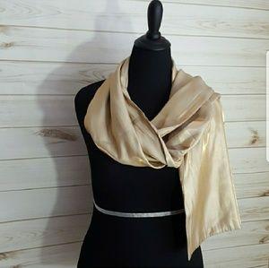Francesca's Collection Golden Shimmer Scarf | New